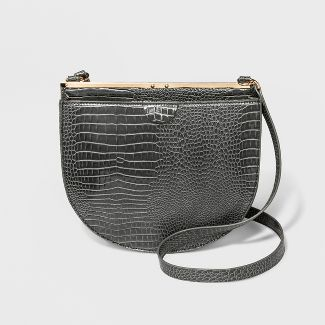 Frame Saddle Handbag - A New Day™ Gray