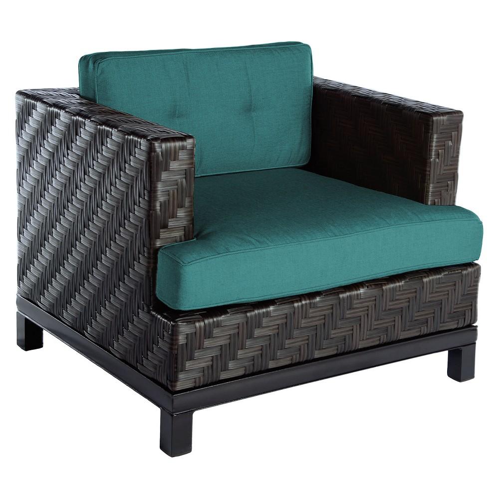 Image of 1pc Rachel Single Arm Chair Spectrum Peacock - AE Outdoor