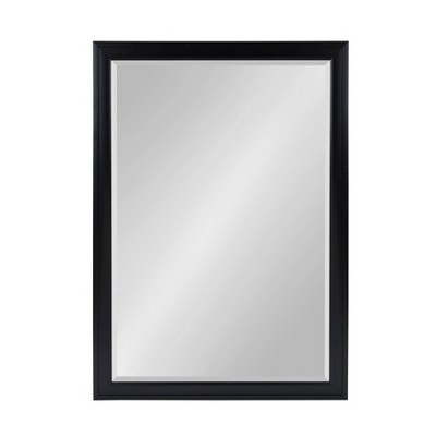 "28"" x 40"" Bosc Framed Wall Mirror Black - DesignOvation"