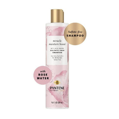 Pantene Nutrient Blends Miracle Moisture Boost Rose Water Shampoo for Dry Hair, Sulfate Free - 9.6 fl oz - image 1 of 4