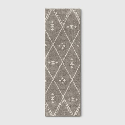 2'4 X7' Diamond Woven Accent Rugs Gray - Project 62™