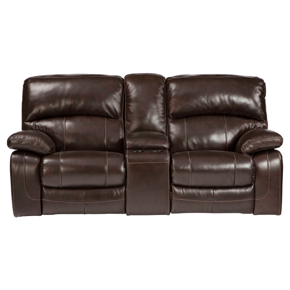 Damacio Glider Reclining Power Loveseat - Dark Brown - Signature Design by Ashley