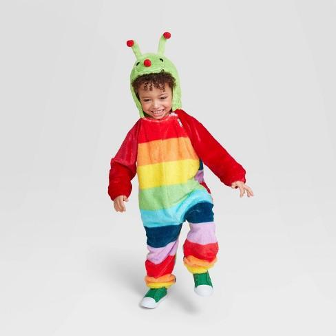 Toddler Plush Caterpillar Halloween Costume Jumpsuit - Hyde & EEK! Boutique™ - image 1 of 2
