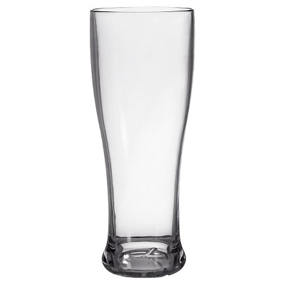 CreativeWare Set of 8 Pilsner Glasses 22oz Acrylic