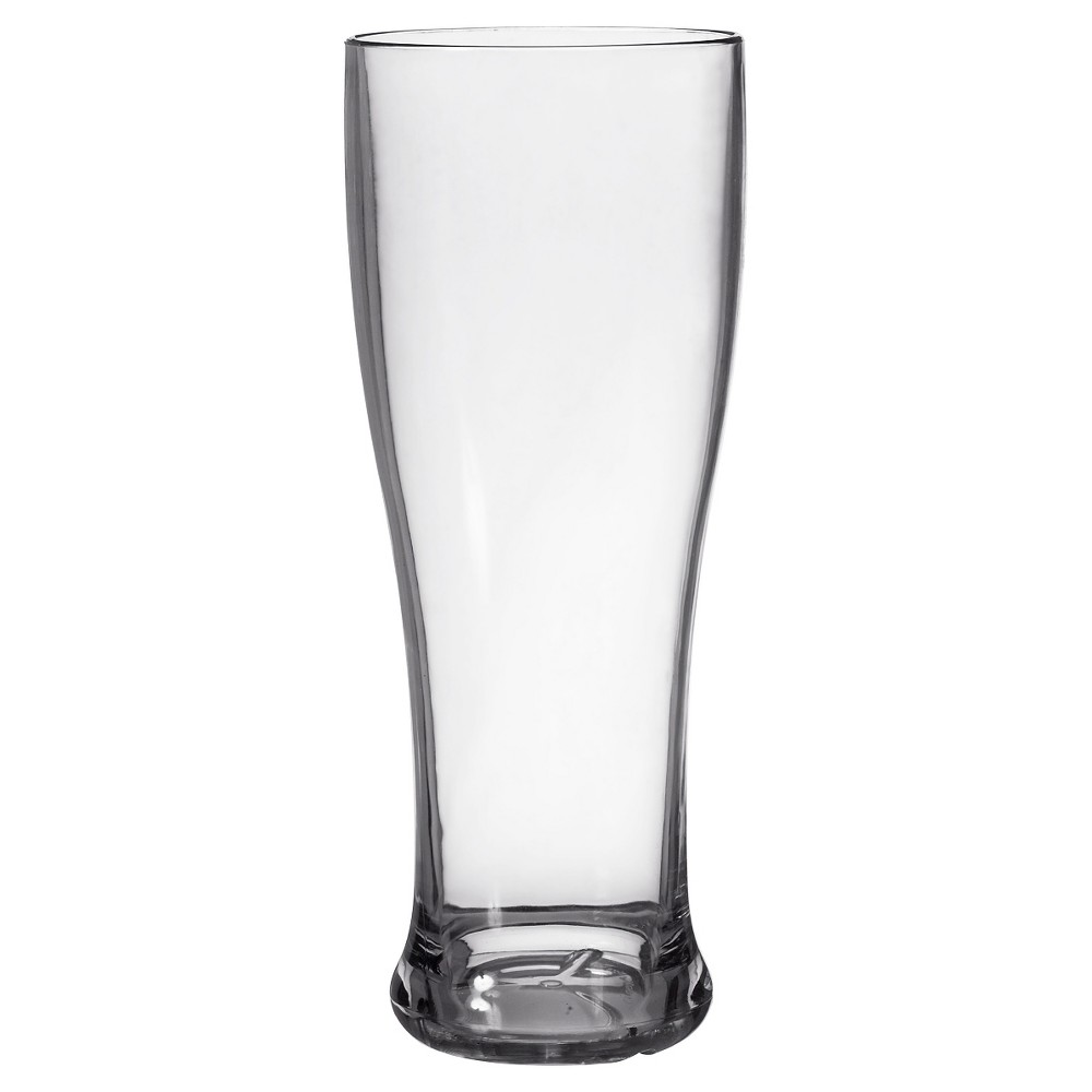 Image of CreativeWare Set of 8 Pilsner Glasses 22oz Acrylic, Clear