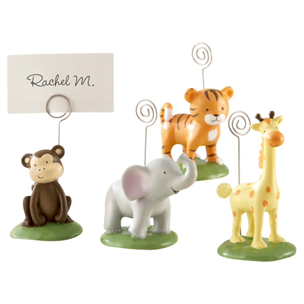 "Image of ""12ct """"Born To Be Wild"""" Animal Place Card/Photo Holders"""
