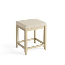 Stupendous Georgia Vanity Stool Black Safavieh Target Machost Co Dining Chair Design Ideas Machostcouk