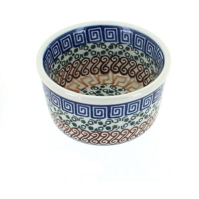Blue Rose Polish Pottery Athena Small Deep Ramekin
