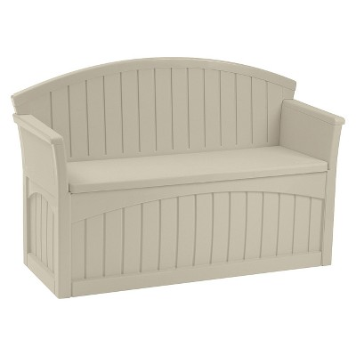 Patio Storage Bench 50 Gallon - Taupe - Suncast