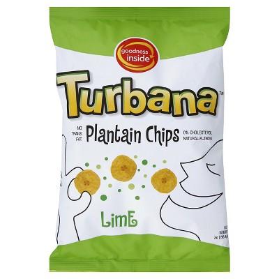 Turbana Lime Plantain Chips - 7oz/12pk