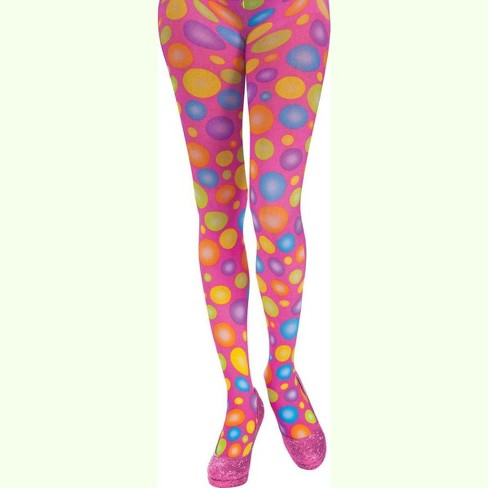 Forum Novelties Circus Sweetie Polka Dot Panty Hose Adult Costume Accessory - image 1 of 1