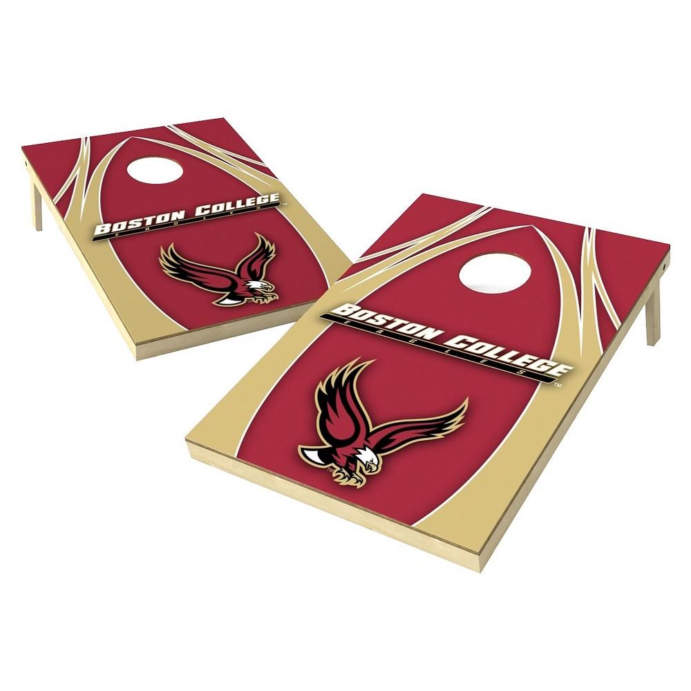 Boston College Eagles Wild Sports 2' x 3' V Logo Design Tailgate Toss Platinum Cornhole Set