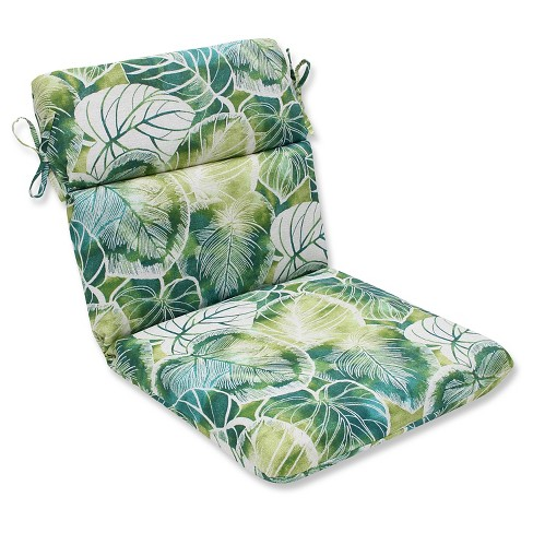 Pillow Perfect Key Cove Lagoon Outdoor One Piece Seat And Back Cushion - Green - image 1 of 1