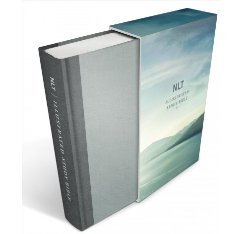 Illustrated Study Bible : New Living Translation, Slate Grey Linen Edition (Hardcover) - image 1 of 1