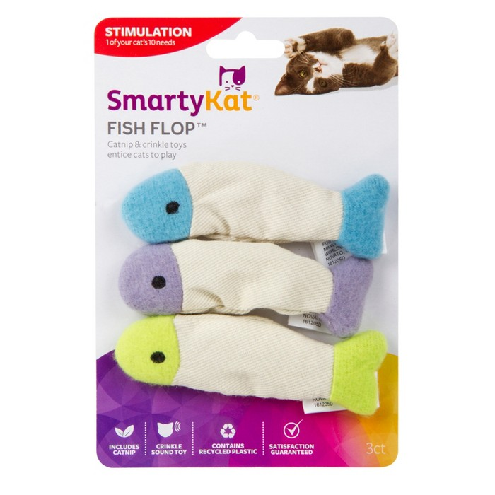 SmartyKat Fish Flop Soft Cat Toy - image 1 of 7
