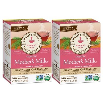 Traditional Medicinals Mothers Milk Shatavari Organic Tea - 32ct