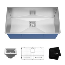 "Kraus Pax 31.5"" Rectangular Undermount Single Bowl Stainless Steel Kitchen Sink"