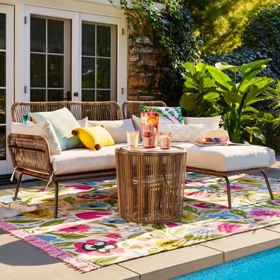 Latigo Patio Sectional/Table Set Brown - Opalhouse™