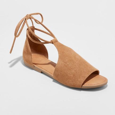 76e705d8d5d Women s Aileen Lace Up Slide Sandals - Universal Thread™ Cognac 9   Target