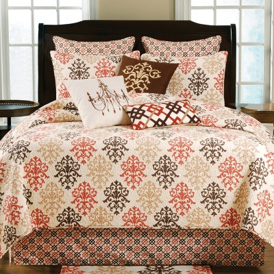 C&F Home Shabby Chic Brown Bedding