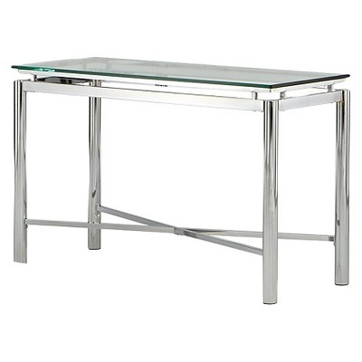 Nova Sofa Table Chrome and Glass - Steve Silver