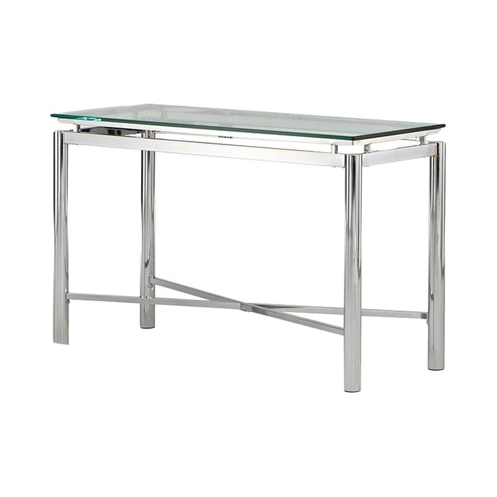Nova Sofa Table Chrome and Glass Steve