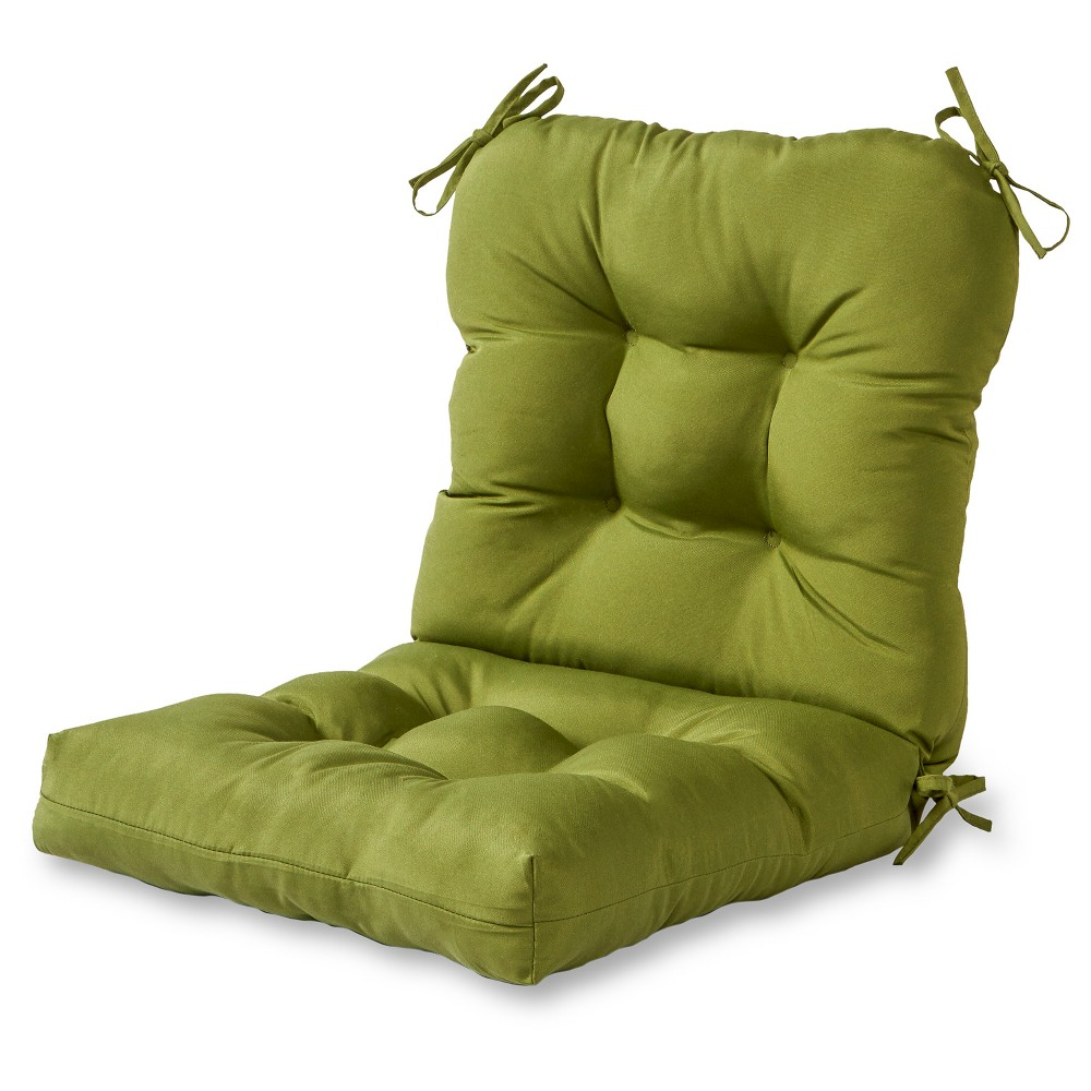 Image of Solid Outdoor Seat/Back Chair Cushion - Hunter - Kensington Garden