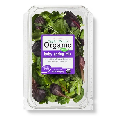 Taylor Farms Organic Spring Mix - 16oz Package