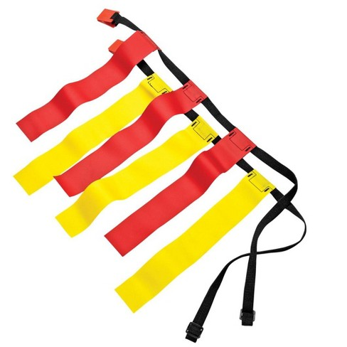 Sportime Large Flag Football Belts, Waists 32 to 42 Inches, Red/Yellow, set of 12 - image 1 of 4