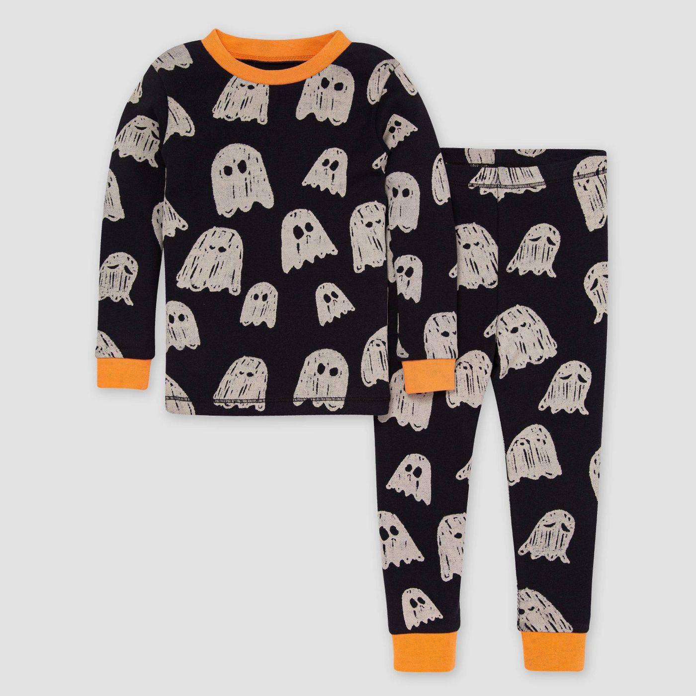 Burt's Bees Baby® Toddler 2pc Gleeful Ghosts Pajama Set - Orange  - image 1 of 3