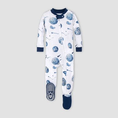 Burt's Bees Baby® Baby Boys' Planets Organic Cotton Footed Pajama - Purple 3-6M