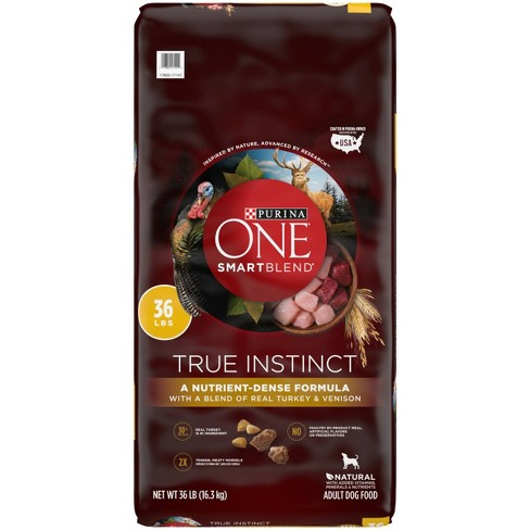 Purina ONE SmartBlend True Instinct Premium Real Turkey & Venison Dry Dog Food - image 1 of 4