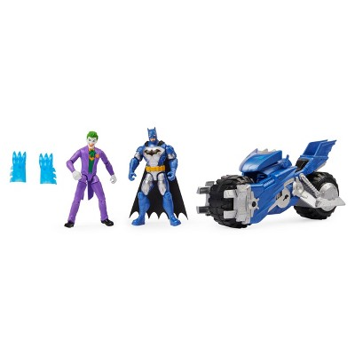 "BATMAN Batcycle Vehicle with Batman and The Joker 4"" Action Figures"