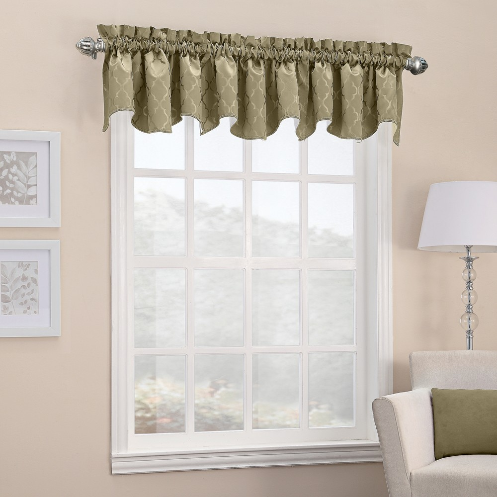 Viviana Woven Trellis Thermal Insulated Rod Pocket Curtain Panel Taupe (Brown) 40