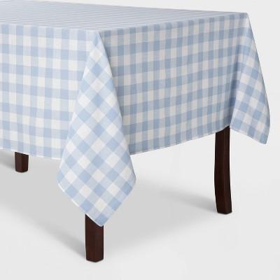 "52""x70"" Check Tablecloth Blue - Threshold™"