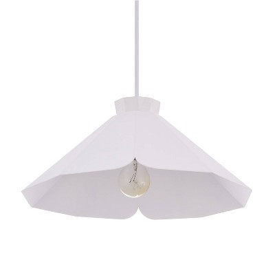 "6.5"" Maiburgh Pendant Lamp White - Aiden Lane"