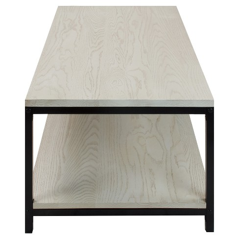 Coffee Table Solid Red Oak Top Shelf White Wash Flora Home Target