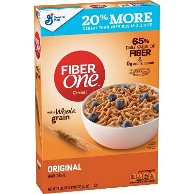 Fiber One Original Bran Breakfast Cereal 19.6oz - General Mills