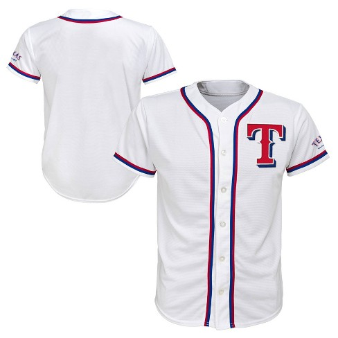 new style 0483c 17259 MLB Texas Rangers Boys' White Team Jersey