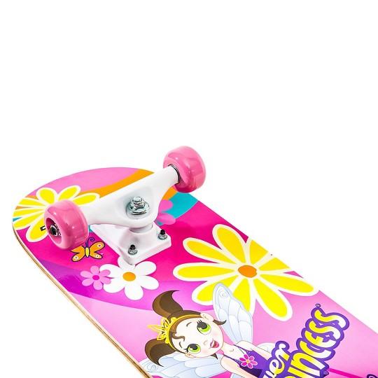 """""""TITAN 9272 Flower Princess Complete 28"""""""" Girls' Pink skateboard"""" image number null"""