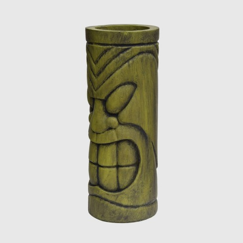"""24"""" Cast Stone Saguard Polynesian Planter Antique Green - Christopher Knight Home - image 1 of 4"""