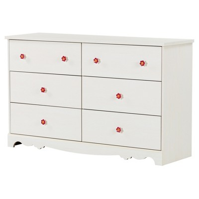 Lily Rose 6   Drawer Double Dresser   White Wash   South Shore : Target
