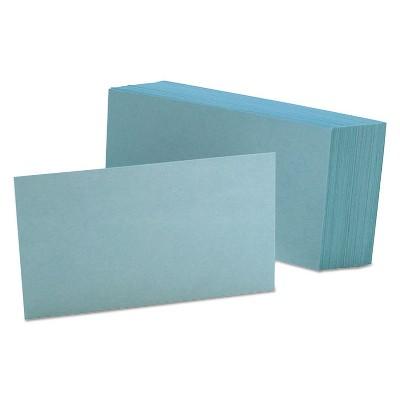 Oxford Unruled Index Cards 3 x 5 Blue 100/Pack 7320BLU