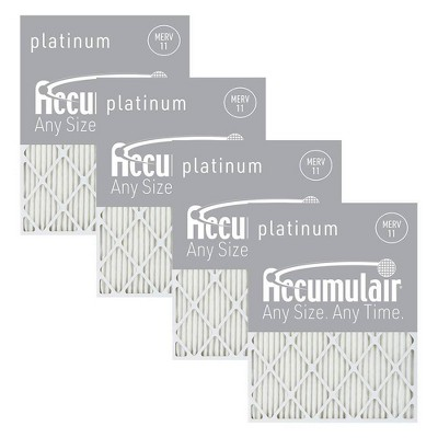 Accumulair 4pk MERV 11 Platinum Filters