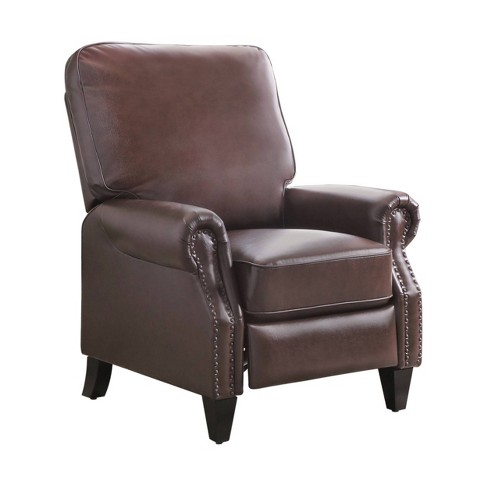 Enjoyable Caleb Leather Pushback Recliner Brown Abbyson Living Gmtry Best Dining Table And Chair Ideas Images Gmtryco