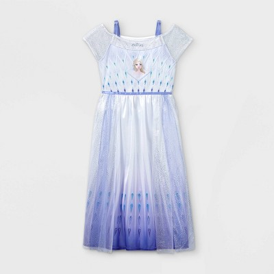 Girls' Disney Frozen Elsa Nightgown - Blue
