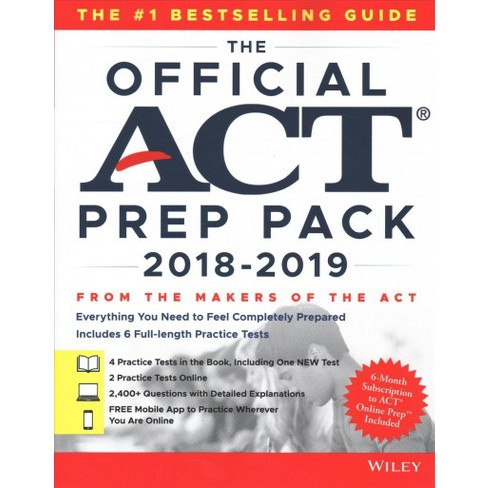 Official Act Prep Pack Paperback Target