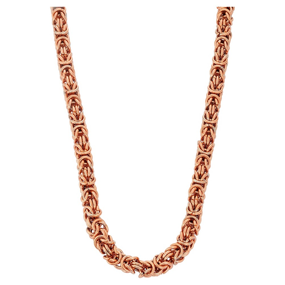 Byzantine Necklace In Rose Stainless Steel, Pink