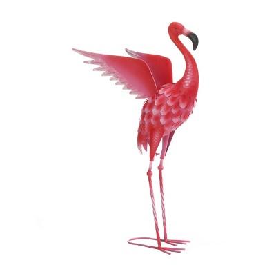 "27.5"" Iron Flying Flamingo Garden Décor Statue Pink - Zingz & Thingz"