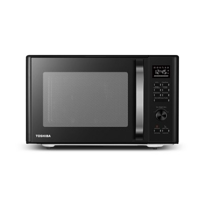 Toshiba 1.0 cu ft Multi-function 6 in 1 Microwave Black Stainless Steel ml-AC28S(BK)